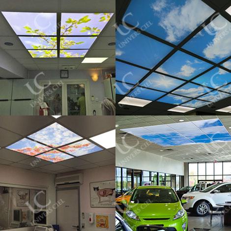 plafond luminuex uniers ciel
