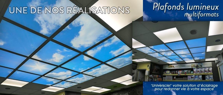 Une de nos réalisation de plafond lumineux